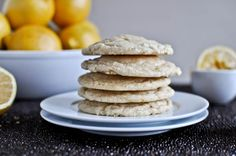 Chewy Lemon Cookies >> I want to throw a hot bunch o' these into a bowl of vanilla ice cream and devour!