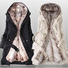 69.80$  Buy now - http://alilqa.shopchina.info/go.php?t=32754613972 - Women faux fur lining snow coats winter europe long fur coat big size XXXL cotton-padded jacket wool liner can dismantled W-046  #buymethat