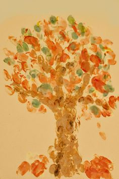Fingerprint Fall Trees: Celebrate the changing seasons with this fun, hands-on art activity that will teach your child about the different colors of the seasons.