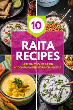 Yogurt-based raitas are an integral part of Indian cuisine. Learn how to make 10 different raita varieties such as pineapple raita, cucumber raita, boondi raita and many more. Serve them with biryanis, and curries like butter chicken. Indian Food Recipes, Vegetarian Recipes, Cooking Recipes, Healthy Recipes, Ethnic Recipes, Vegetarian Cooking, Cooking Tips, Raita Recipe Indian, Skinny Recipes