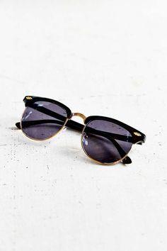 Skylar Half-Frame Sunglasses - Urban Outfitters theseeeeee