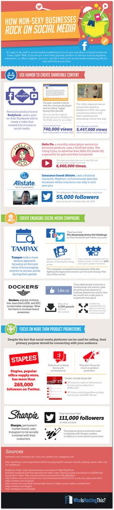 How Non-Sexy #Brands Succeed On #Social #Media - an #infographic.