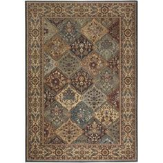 Rizzy Home BV3199 Bellevue Power Loomed Polypropylene Rug, Multicolor