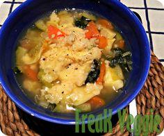 Caldo de Legumes com tortellini de Espinafres e Ricota