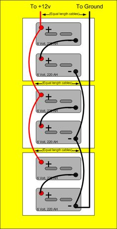 wiring multiple volt batteries together parallel wiring below is a collection of quick reference diagrams on hooking up multiple 6 volt and 12 volt batteries to create etc as required for