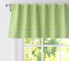 Twill Valance | Pottery Barn Kids- for the kitchen window