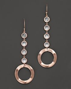 Ippolita RoséLollipop and Wavy Circle Drop Earrings in Clear Quartz