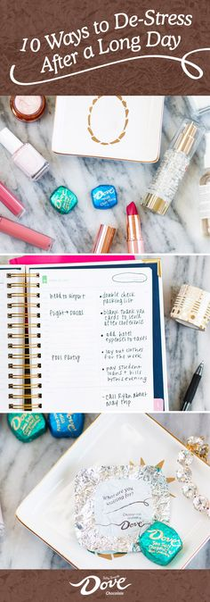 No matter the circumstances, these 10 Easy Ways to De-Stress After a Long Day can be all the inspiration you need to unwind and recharge. Whether it's starting a gratitude journal or enjoying a pampering night with your favorite DOVE® Chocolate Promises®, find what works for you and treat yourself to a deliciously sweet moment. Make sure to shop at Walgreens to find everything you need to relax during your week.