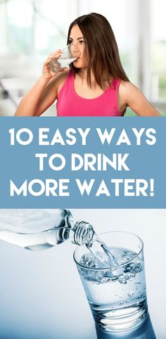 It's a constant struggle to add the right amount of water into your daily routine - make it easier with these 10 simple ways to drink more water!