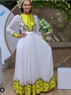 Adey print on Menen. Delivering will take 25 business days. African Print Skirt, African Print Fashion, Ethnic Fashion, African Dress, Ethiopian Traditional Dress, African Traditional Wedding Dress, Traditional Dresses, Ethiopian Wedding Dress, Ethiopian Dress