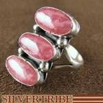 Navajo Indian Jewelry Rhodochrosite Sterling Silver Ring