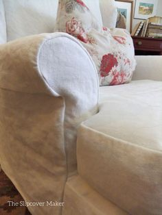 Loose and floppy fit slipcover in heavy weight washed linen. Void of detail puts the focus on this lovely fabric: 12 oz. Brazil Linen color Off White from InstaLinen. Chair Covers, Off Colour, Linen Fabric, Slipcovers, Brazil, Bean Bag Chair, Drop Cloths, White Interiors, Throw Pillows