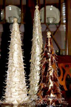 Ribbon Trees for Christmas