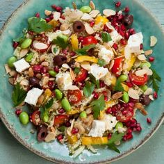 Recipe: Feta and Pomegranate Couscous with Almonds | sheerluxe.com