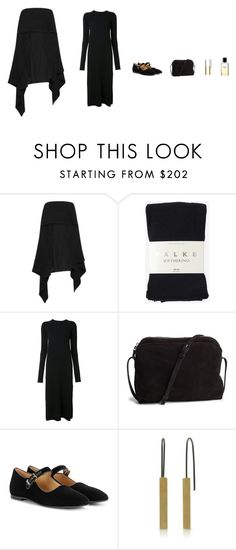 """""""Untitled #649"""" by revover ❤ liked on Polyvore featuring Lemaire, Falke, Helmut Lang, The Row, Chanel and Ellie Air"""