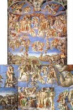 RENACIMIENTO: Capilla Sixtina (Miguel Ángel) Famous Paintings Michelangelo, Michelangelo Artist, Sistine Chapel Ceiling, Life Of Christ, High Renaissance, Plastic Art, City Of Angels, High Art, Religious Art
