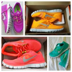 bright running shoes....I want all of these!