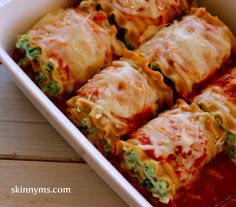 This award winning recipe for Skinny Lasagna Rolls is easy to prepare and perfect for this busy season. #recipe