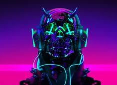 Auʇıɔɥɹısʇ on Behance Arte Cyberpunk, Cyberpunk Aesthetic, Cyberpunk City, Neon Aesthetic, Cyberpunk 2077, Cyberpunk Fashion, Character Art, Character Design, Graffiti Wallpaper