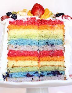 Rainbow stripe goodness
