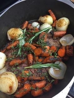 It seems like a no-brainer, pot+roast=pot roast, and I used to do it that way. This is better. All you Pioneer Woman fans out there, you know she has a knack for making everyday things better and scary things easy so give this a try if you want to taste the best pot roast of your life!