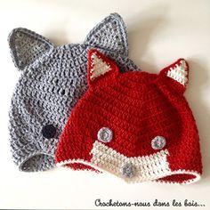 Des bonnets pour affronter l'automne ~ Crochetons-nous dans les bois...
