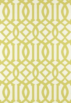"""Imperial Trellis"" Schumacher wallpaper in citrine #yellow #trellis #wallpaper"