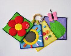 Sofort lieferbar / Babys erste Ruhe buchen / Mini ruhig buchen / Busy buchen / Aktivität / Montessori / Stoff Buch / Reisespielzeug