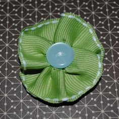 Ideas for Scrapbookers: A Very Easy Ribbon Flower