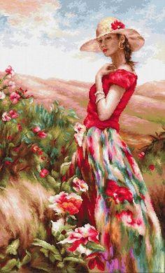 L'art Du Portrait, Cross Stitch Pictures, Woman Painting, Beautiful Paintings, Indian Art, Figurative Art, Female Art, Landscape Paintings, Watercolor Art