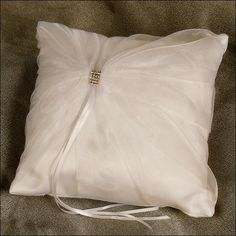 Ring Bearer Pillow - Glitz - Ivory