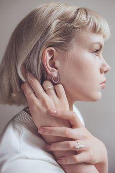 Sterling silver circle earrings. // $47