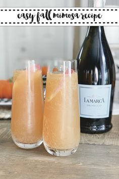 Enjoy the flavors of Fall with the Best Mimosa Recipe from Everyday Party Magazine #Fall #Mimosa #Prosecco