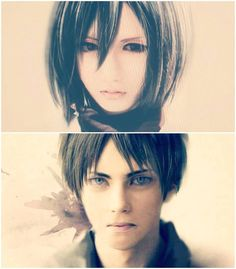 Attack on Titan Mikasa and Eren cosplay. They look so real!! Just like eren and mikasa!!