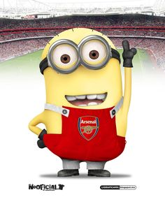 Arsenal Minion _Designed by stevehaines Arsenal Fc, Arsenal Football Club, Arsenal Players, Football Players, Football Cleats, Cristiano Ronaldo, Arsenal Pictures, Sports Logo, Football Shirts