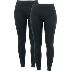 "R.E.D. by EMP Leggings, Women ""Ladies Leggings - Two-Pack"" black • EMP"