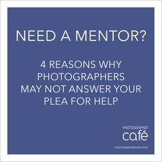 photographer mentor guide