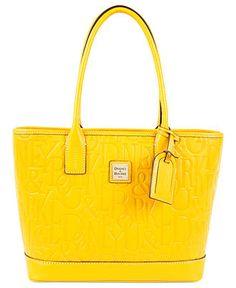 Dooney & Bourke Handbag, Logo Embossed Retro Russel Bag - Satchels - Handbags & Accessories - Macy's