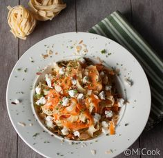 Tagliatelle met wortel & geitenkaas