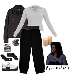 Discover outfit ideas for college made with the shoplook outfit maker. How to wear ideas for Plimsoll Appliqued Leather Sneakers and polaroid camera Casual Outfits, Cute Outfits, Friend Outfits, Outfit Maker, Plimsolls, Friends Fashion, Leather Sneakers, Mood Boards, Her Style