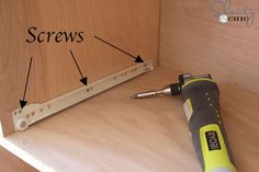 How to Install Drawer Slides - Shanty 2 Chic How To Make Drawers, Diy Drawers, Cabinet Drawers, Cabinet Doors, Woodworking Jigs, Woodworking Projects, Carpentry, Woodworking Patterns, Custom Woodworking