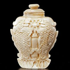 Chinese Carved Ivory Double Fish Snuff Bottle