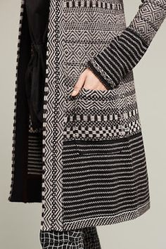 Rare NWT Anthropologie Katy Sweater Coat by Angel Of The North Sm Holiday Cardi Weaving Textiles, Weaving Patterns, Black Lehenga, Sweater Coats, Sweaters, Knitting Accessories, Crochet Fashion, Winter Wear, Knitwear