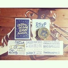 @Greer Mitchell Manolis who captured our other weekend wedding for #timerica2014! I'm obsessed with the #neworleans themed invitation suite that really gave guests a dose of what to expect down here in this incredible city! Laissez les bon temps rouler! #tyingtheknotweddings #neworleanswedding #weddinginvitation
