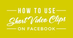Combining the magnetic power of video with the amazing reach of Facebook is a crucial technique for getting readers' eyes on your content.