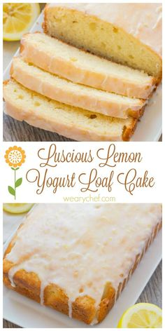 You need to try this Lemon Loaf Cake! It's made with greek yogurt and packed with delicious lemon flavor. This makes a perfect dessert.