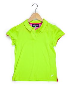 Turtles and Tees Lime Bubbles & Bogeys Cap-Sleeve Polo - Girls Glam Girl, Triplets, Little Princess, Cap Sleeves, Bubbles, Girl Outfits, Lime, Girls Dresses, Polo