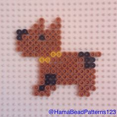 Hama bead dog by hamabeadpatterns123