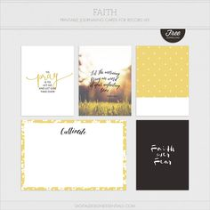 Free Faith Journal Cards via Turquoise Avenue