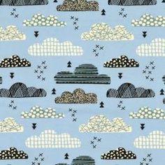 Nico Wolken hellblau, Jersey, 14,90 EUR / Meter - Bild vergrößern